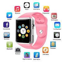 Смарт часы Smart Watch A1, Sim cart + камера, pink
