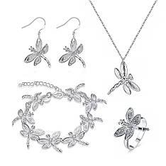 Жіночий комплект біжутерії (кольє, сережки, браслет, кільце) Мало бабок не буває покриття срібло 925