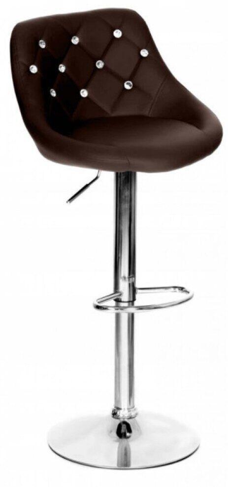 Барный стул со спинкой Bonro B-801C. Цвет коричневый