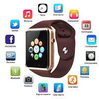 Смарт часы Smart Watch A1, Sim cart + камера, gold