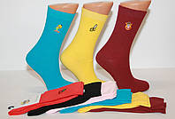 Жіночі шкарпетки високі з вишивкою КАРДЕШЛЕР яскраві асорті