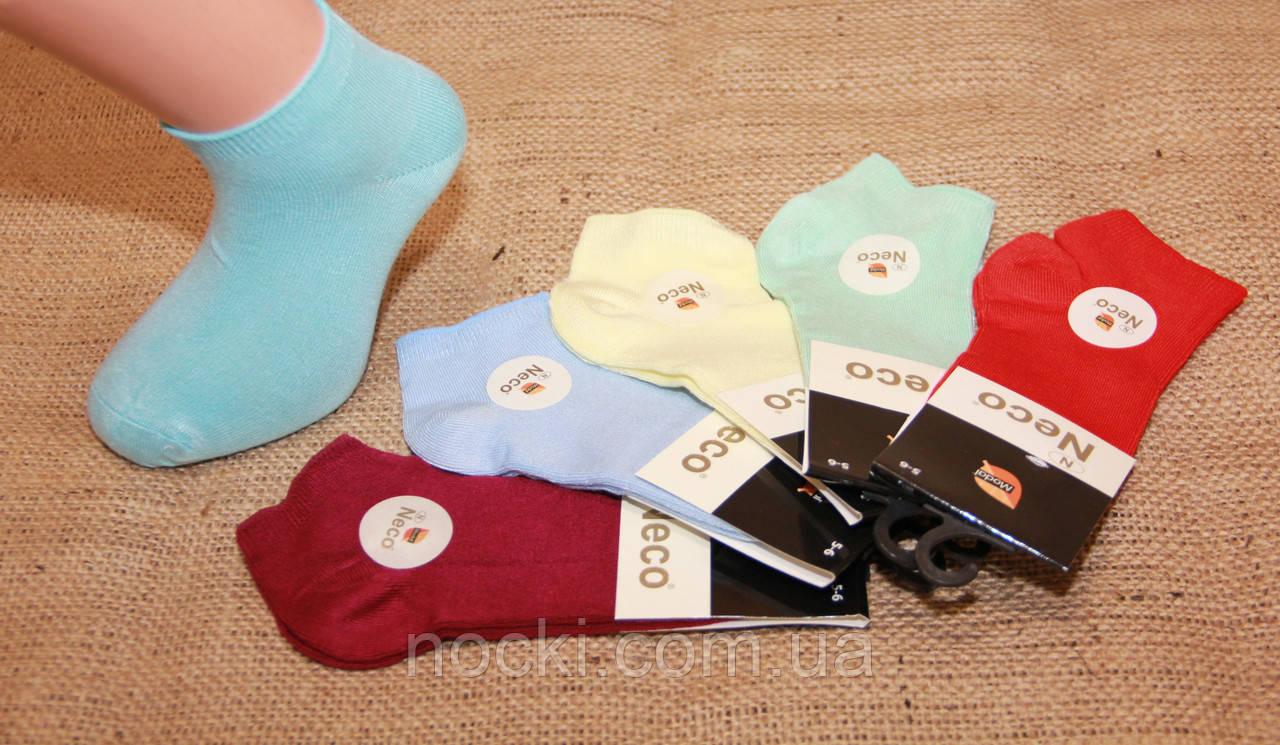 Детские носки короткие с модала НЕЖО 5-6 яркие ассорти