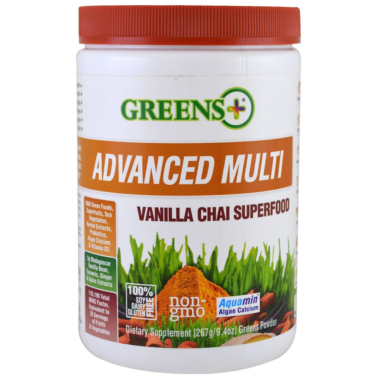 Greens Plus, Advanced Multi Vanilla Chai Superfood, 9.4oz