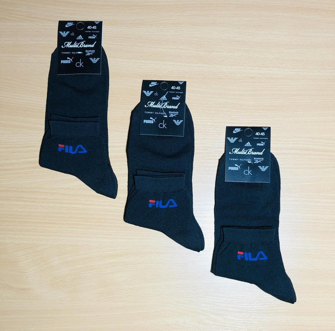 Шкарпетки спортивні демісезонні бавовна FILA розмір 41-45 асорті середні