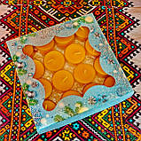 Подарочный набор круглых чайных восковых свечей 15г (16шт.) в коробке Бежевый Крафт, фото 4
