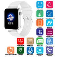 Смарт часы Smart Watch Mi5 pro, Sim card + камера, температура, white