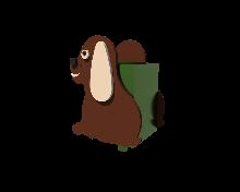 Детская урна Собачка Kidigo
