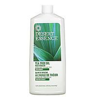 Desert Essence, Освежающая безалкогольная жидкость для полоскания рта с экстрактом чайного дерева, 16 жидких унций (480 мл)