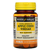 Mason Natural, Яблочный уксус особой крепости, 100 таблеток