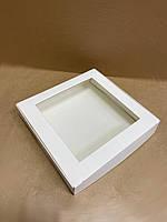 Коробка з вікном 150х150х30 мм для пряників, біла