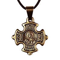 Крест нательный криновидный Анна Святая праведная Анна Пророчица Металл медненный 3х2х0,2 см (19641)