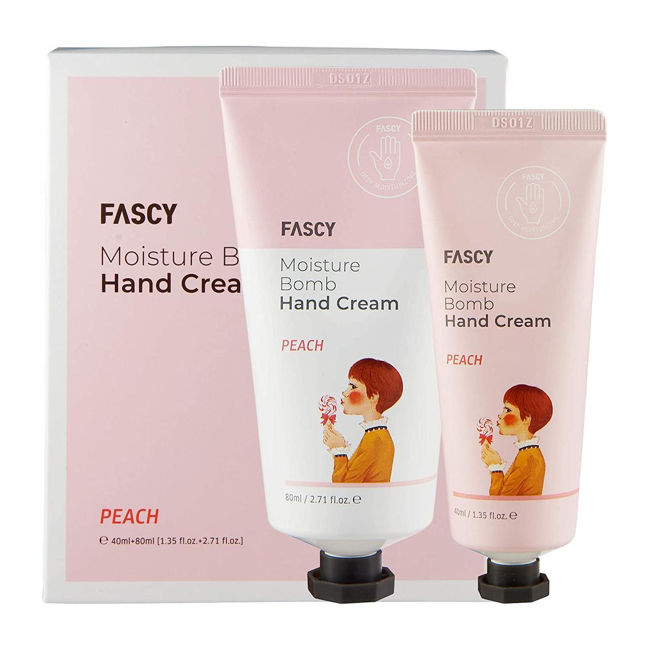 Зволожуючий крем і лосьйон для рук Fascy Moisturize Hand Cream, Peach Lotion