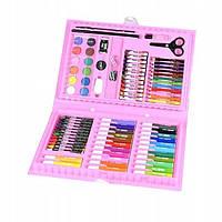 Набор для творчества Coloring Art Set Розовый 86 предметов для рисования