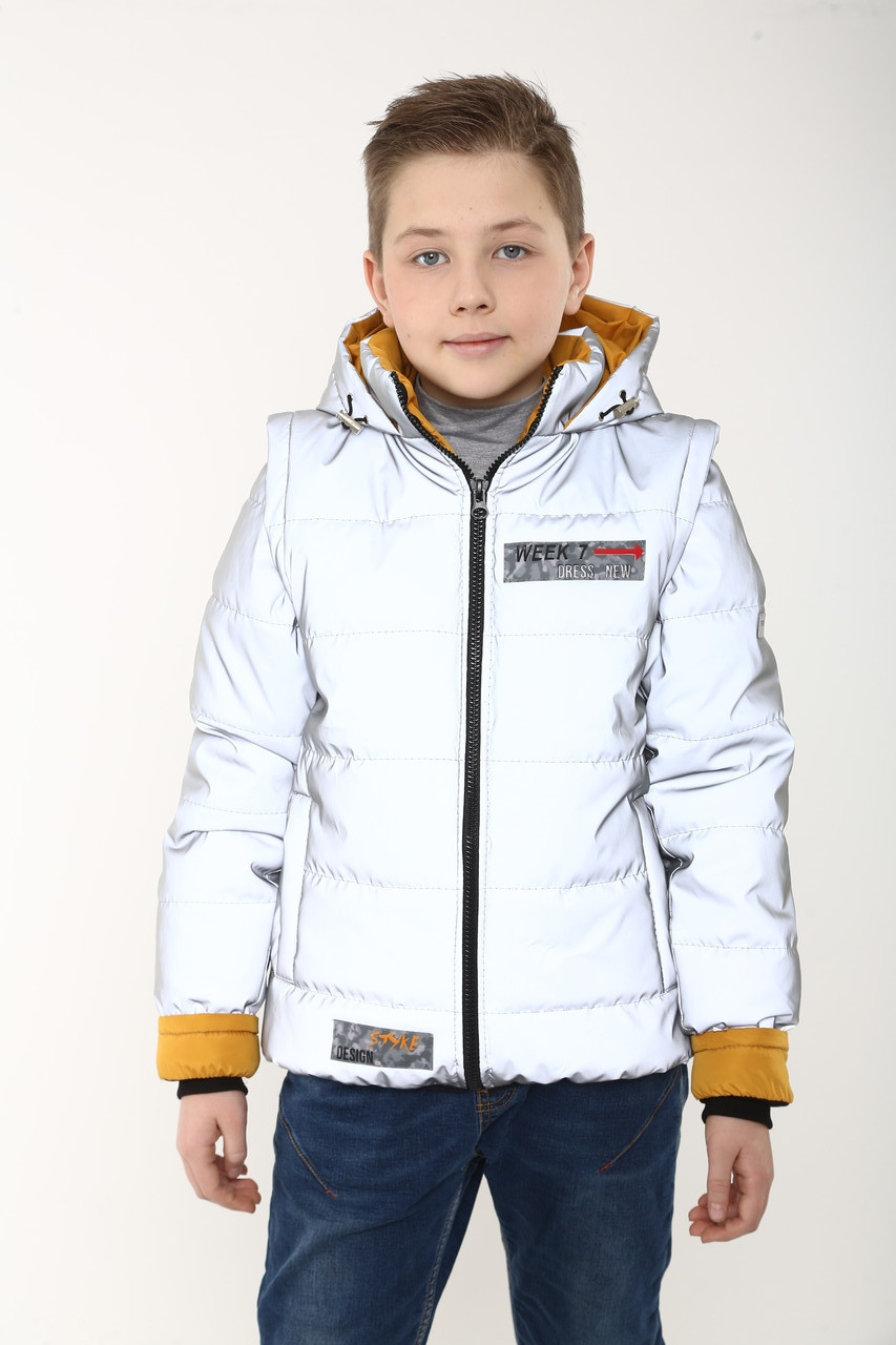 Весняна Куртки для хлопчика україна 36-46 гірчичний
