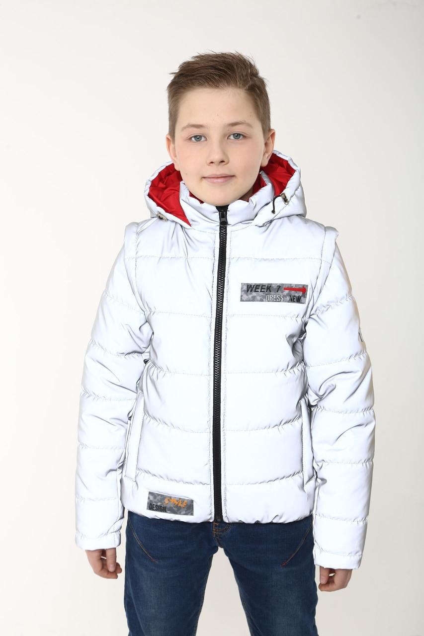 Куртки на хлопчика демісезонні від виробника 36-46 червоний