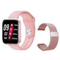 Умные Часы Lige T99S Pro Rose Gold VIP Smart Watch Два ремешка