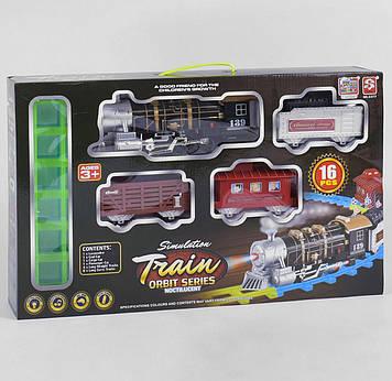 Игрушечная железная дорога детям от 3-х лет Детская железная дорога  с звуковыми и световыми эффектами