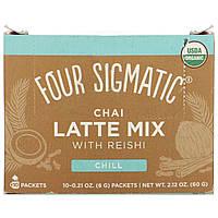 Four Sigmatic, Chai Latte, Mushroom Mix, 10 Packets, 0.21 oz (6 g) Each