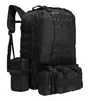 Рюкзак с подсумками HLV A08, 50 л, для охоты, рыбалки, туризма, черный