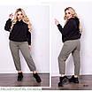 Брюки МОМ стильные высокая талия джинс плотный 46,48,50,52,54, фото 7