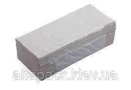 Полотенца бумажные целлюлозные Z серые, упаковка