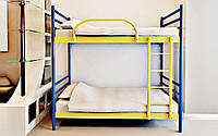 Двухъярусная металлическая кровать Fly Duo (Флай Дуо) Метакам 80х200 односпальная двухъярусная