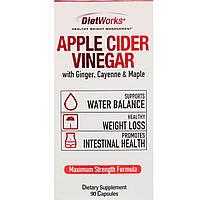 DietWorks, Apple Cider Vinegar, 90 Capsules