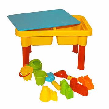 Детский разборной столик-песочница с ведерками Столик детский для игр с песком Игрушки для песочницы