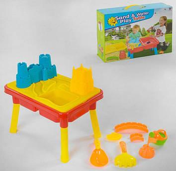 Детский столик для игр в песочнице Яркий столик для игры с песком и водой Столик-песочница для детей
