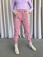Женские прогулочные спортивные штаны 364 (42-44; 46-48) (цвета: пудра, беж ,черный) СП, фото 1