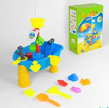 Столик-песочница Игрушечный столик для песка и воды Столик-песочница с аксессуарами Игрушки детские с песком