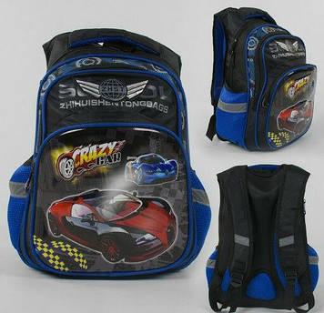 Рюкзак детский школьный с 2 карманами Детский школьный ранец с ортопедической спинкой и 3D принтом