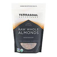 Terrasoul Superfoods, Сырые, цельные мидальные орехи, непастеризованные, 16 унц. (454 г)