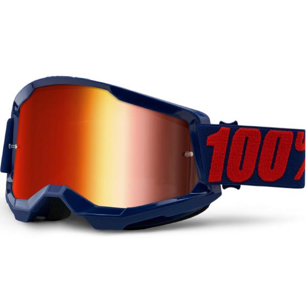 Мотоочки 100 % STRATA 2 Goggle Masego - Mirror Lens Red