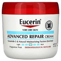 Усовершенствованный восстанавливающий крем для очень сухой кожи, без отдушек, Eucerin, 454 г
