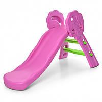 Горка детская пластиковая Bambi QX-1803 Pink