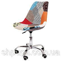 Крісло Астер, м'яке сидіння , тканина - печворк .