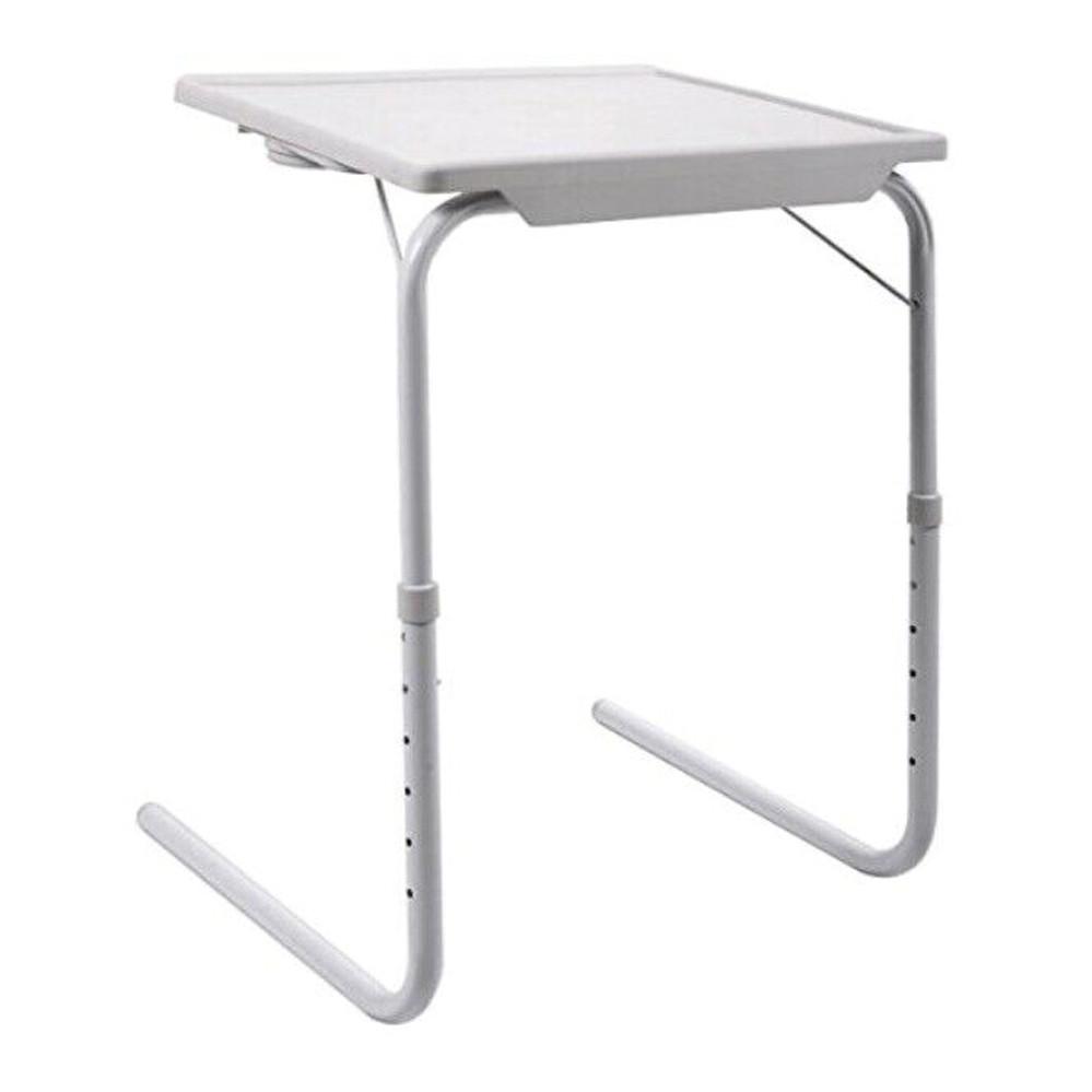 Переносний складаний столик трансформер Багатофункціональний приліжковий регульований маленький Table Mate 2
