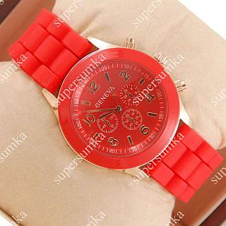 Стильные наручные часы Geneva Red 1002