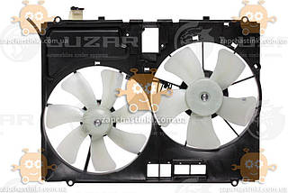 Електровентилятор охолодження з кожухом (2 вентиля) Lexus RX II (від 2003р) 3.0 i, 3.3 i (Luzar) ЗЕ 00004235