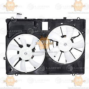 Електровентилятор охолодження з кожухом (2 вентиля) Lexus RX II (від 2006р) 3.5 i (Luzar Росія) ЗЕ 21737