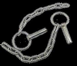 Чека МТЗ задней навески (с кольцом и цепочкой) в сборе А61.05.100-03