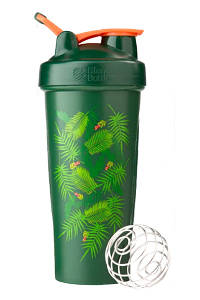 Спортивний шейкер BlenderBottle Classic Loop 820ml Special Edition Green-Coral (Art Palm) (ORIGINAL)