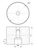 ODF-06-28-01-L50 Дистанція 50 мм для коннектора діаметром 50 мм з різьбою М10, сатин, фото 2