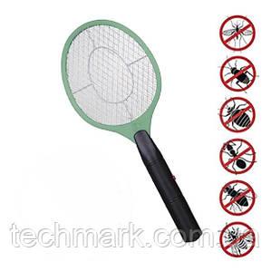 Электрическая мухобойка аккумуляторная Rechargeable Mosquito-hitting Swatter (Зелёный)