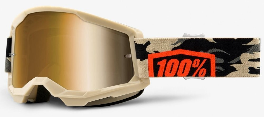 Мотоочки 100 % STRATA 2 Goggle Kombat - True Gold Lens