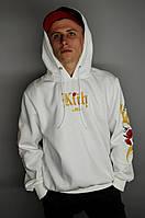 Мужская кофта с капюшоном Kith x LeBron худи с вышивкой белая