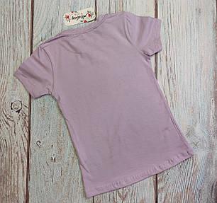 Детская футболка для девочки Among us Амонг Ас сиреневый 8-9 лет, фото 2