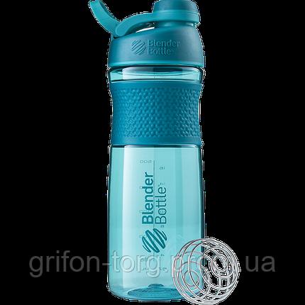 Спортивна пляшка-шейкер BlenderBottle SportMixer Twist 820ml Teal (ORIGINAL), фото 2