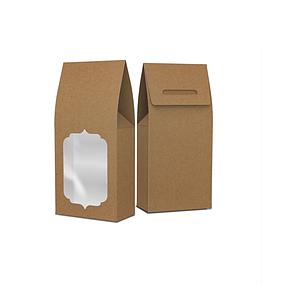 Картонная упаковка для чая, сухофруктов, орехов, Белая